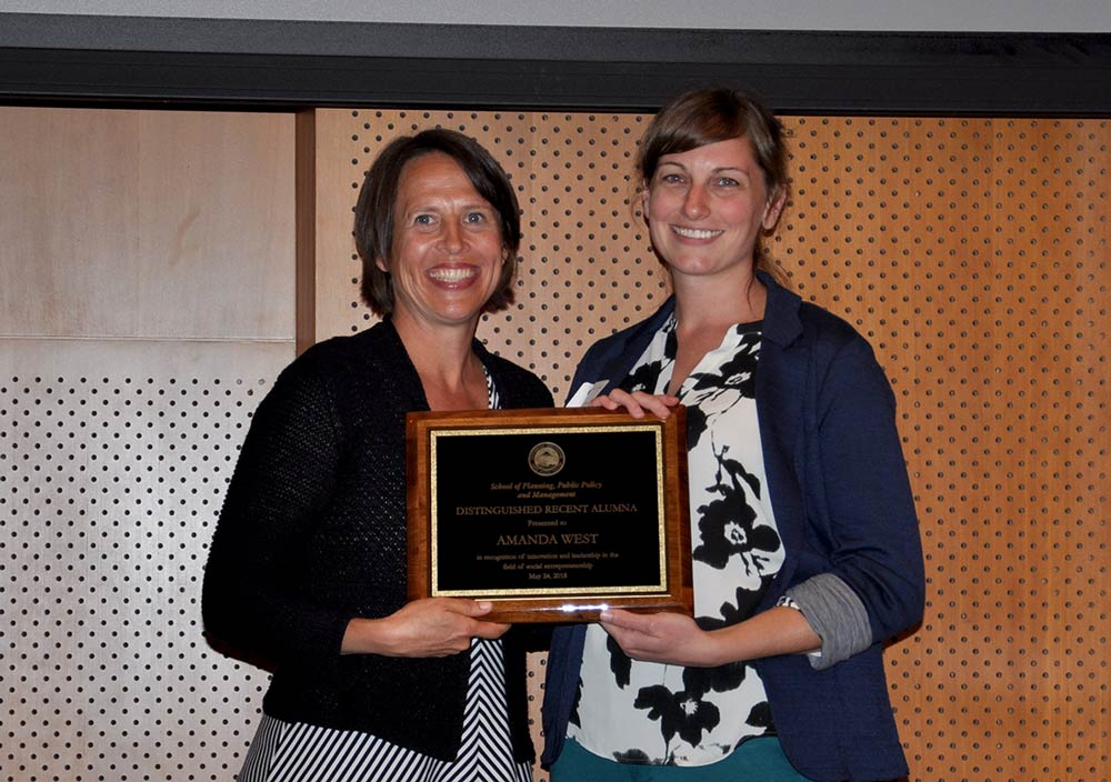 Amanda West receives award at PPPM awards ceremony