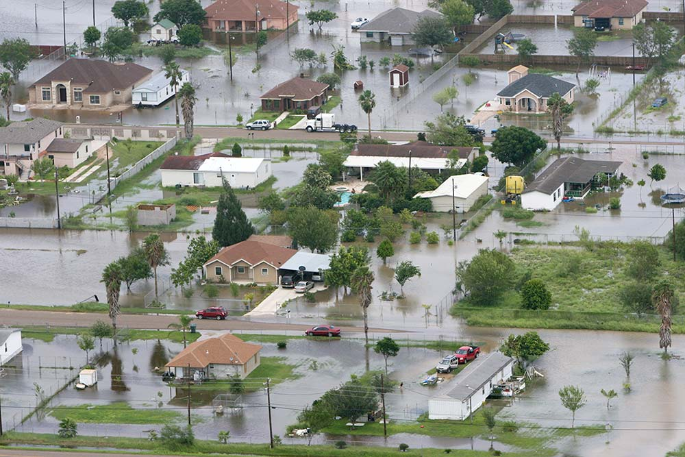 FEMA aerial image of flood, courtesy Wikimedia Commons