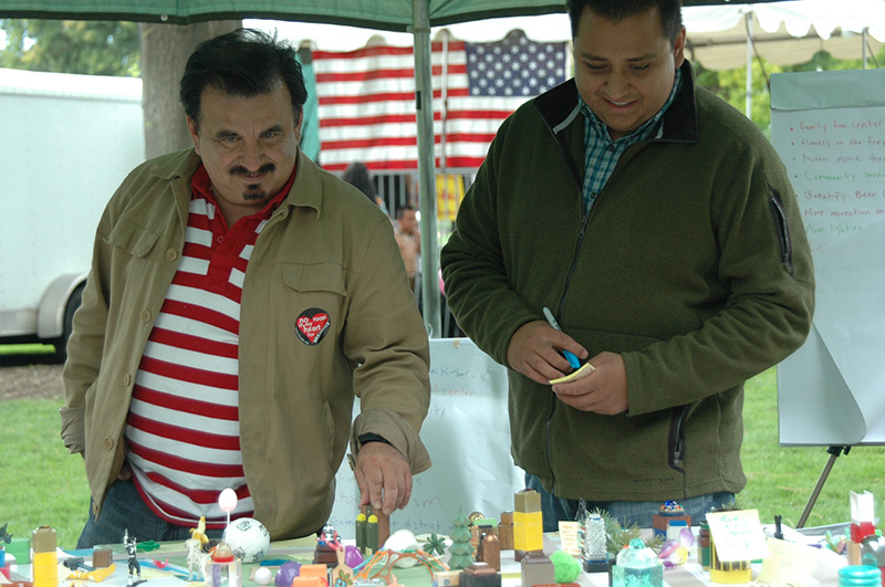 Gerardo Sandoval and James Rojas at the Greater Medford Cultural Fair