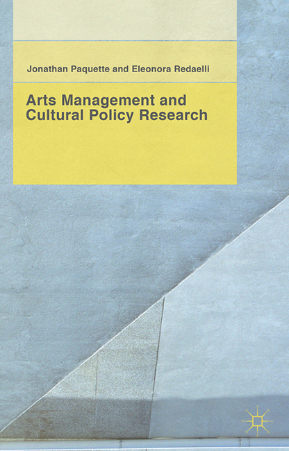 Arts Management and Cultural Policy Research book cover