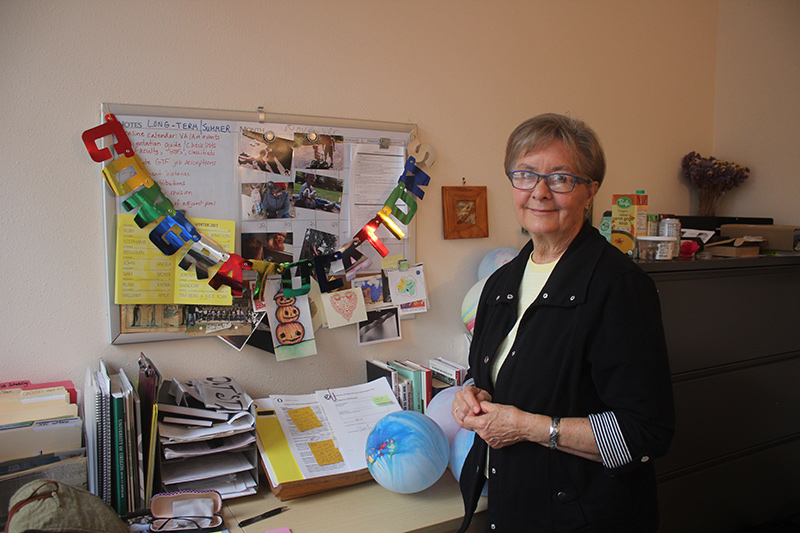 Beth Roy in her office in Lawrence Hall