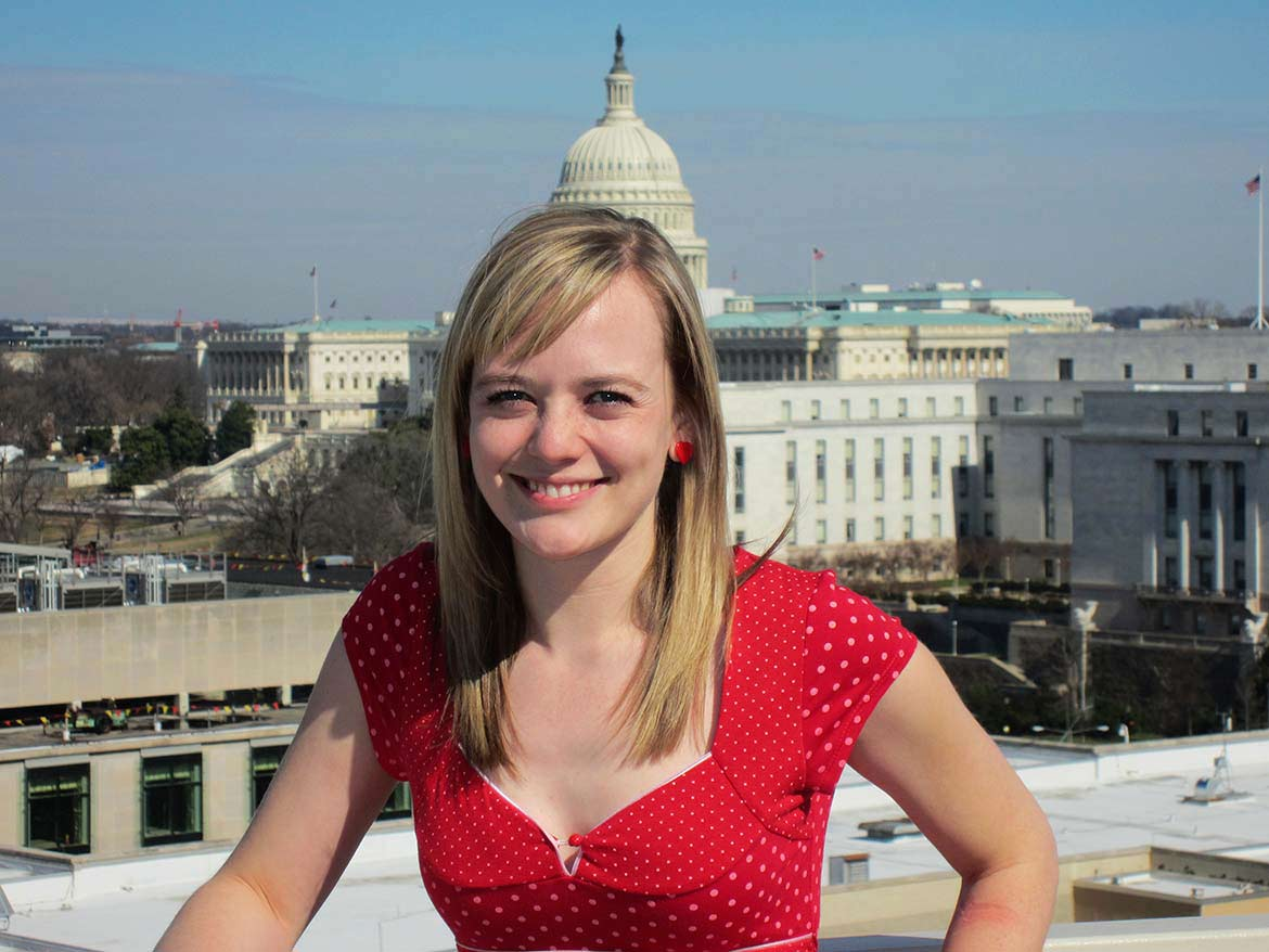 Korrin Bishop in front of the Capitol in Washington D.C.