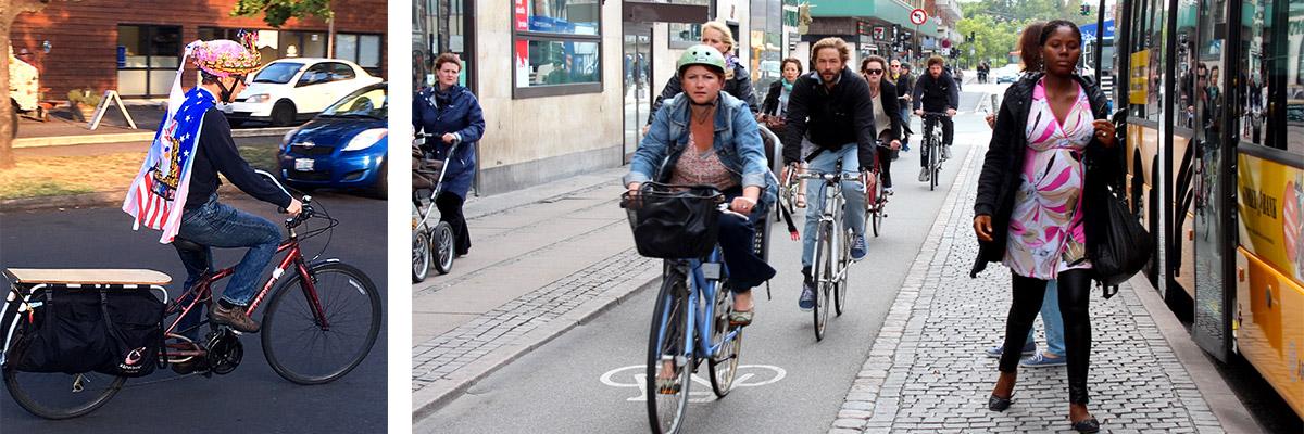 Photo Marc Schlossberg and a Copenhagen Street