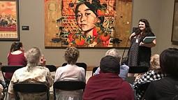 Rosemarie Oakman leads talk at museum