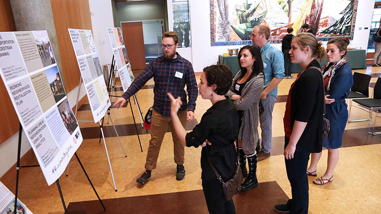 students present work